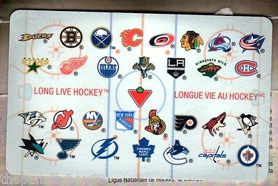 Canadian Tire NHL 30 Hockey TEAM Gift Card Collectible English & French $0 balan