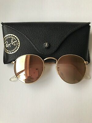 3bb5aca289a1 Ray Ban Model Rb3447 Round Metal Sunglasses Gold (946441) 50-21-145