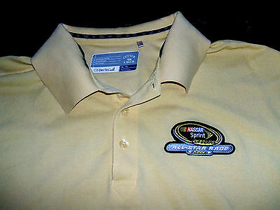 NASCAR Sprint Cup Series All Star Race XXIV Yellow Embroidered XL Polo Shirt Dry