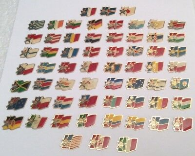 Lot 62 Pin's Albertville 92 Olympics Flags FULL SET  Hard to Find Complete