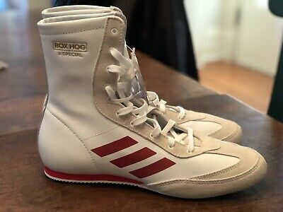 803d243206 NEW! ADIDAS BOX Hog x Special Boxing Shoes Cloud White/Red AC7148 Size 12