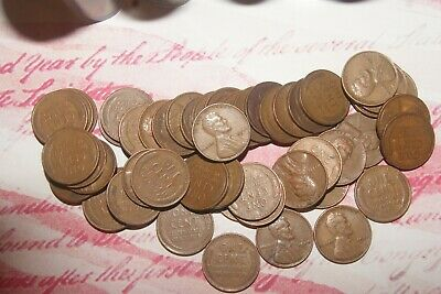 1944 P mint (50) coin roll Lincoln wheat cents pennies