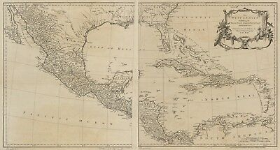A4 Reprint of West Indies Map West Indies