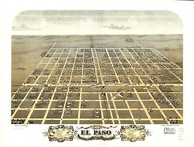 A4 Reprint of American Cities Towns States Map El Paso Woodford Illinois