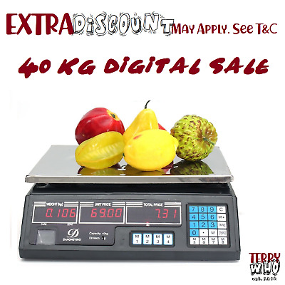 40KG Kitchen Digital Electronic Scale Shop Weight Scales Food