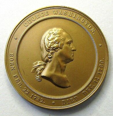 original issue 1860 GEORGE WASHINGTON CABINET OF MEDALS bronze medallion