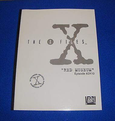 The X-Files Authorized Original Shooting Script Red Museum Episode #2X10