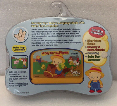 VTECH V SMILE Baby Game Cartridge A DAY ON THE FARM -NIP