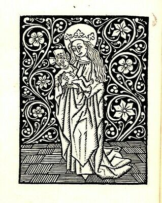 Devote ghetiden Psalm. Two Folio Psalter of Our Lady- Re-production Art Work