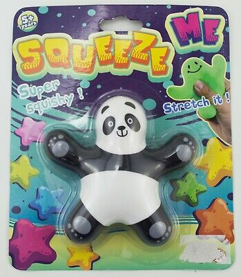 SQUISHY STRESS BALL animal panda kids play toy gift stress relief squeeze game