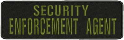 Bail ENFORCEMENT AGENT embroidery patches 2x9 hook on back od green