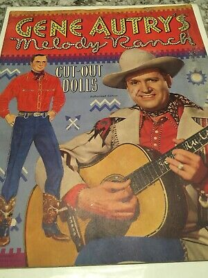 Gene Autry's Melody Ranch,Cut-Out Paper Dolls Book (Complete) 1950
