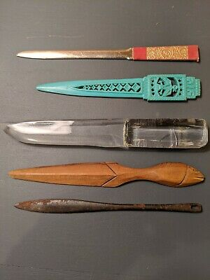 Lot of five vintage antique letter openers