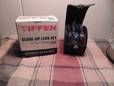 Tiffen Close-Up +1 & +2+4  55mm Lens Filter Set With Case