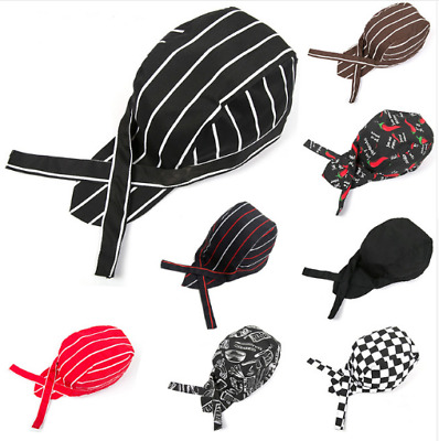 Classic Chefs Skull Cap Chef Hat Professional Catering Elastic for Party Kitchen
