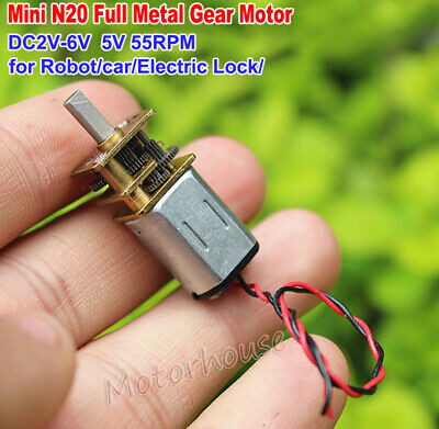 DC 3V 5V 6V 55RPM Slow Speed Micro N20 Gear Motor DIY Robot Car Electric Lock