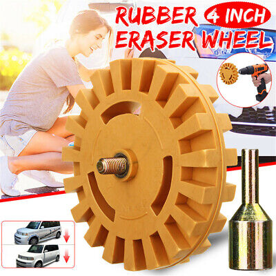 AU 4 Inch Fluted Rubber Eraser Wheel Stripe Decal Caramel Pneumatic For Remover