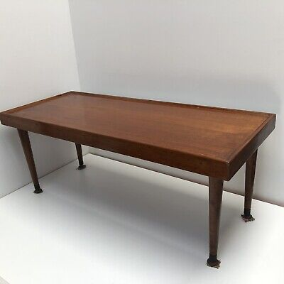 80cmL Rectangular Vintage Solid Wood Coffee Table