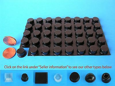 "40 Self Stick Rubber Bumpers Stops Legs Feet Pads No-Slip .50""W x .25""H USA Made"