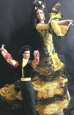 Spanish Flamenco Marin Male Female Dancer Dolls Spanish Andalusian Culture