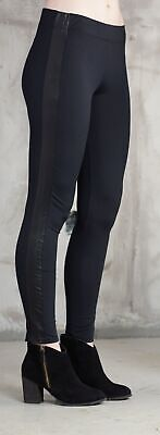 Mud Pie F7 Donna Alla Moda Nere per Vegani pelle Smoking Leggings