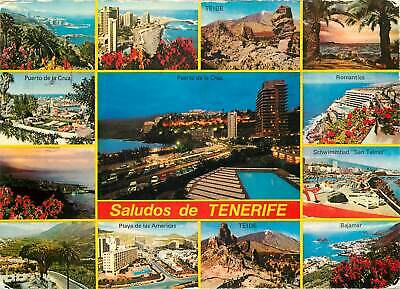 Spain saludos de Tenerife multi views postcard