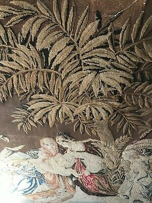 LARGE Antique 18th Century Fine French Tapestry Beadwork