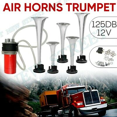 9pcs 125DB Trumpet Air Horn Kit Musical Dixie Dukes Compressor 12V for Car Truck