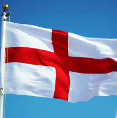 Large Flag 5FT X 3FT St George Cross Flags English Eyelets Football Rugby Day