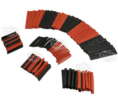127pcs assortiment câble gaine thermorétractable de tube de tube électrique