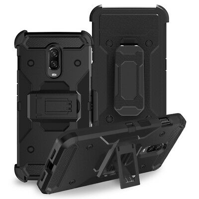 Hybrid Shockproof Holster Rugged Case Heavy Duty Hard Armor Cover For Oneplus 6T
