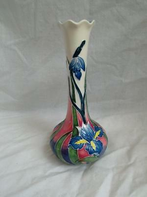 Old Tupton Ware IRIS Hand painted Tube Lined 8 inch Bud Vase