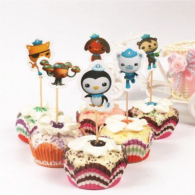 OCTONAUTS Cupcake Toppers Birthday Cake Decoration Flags 12pcs