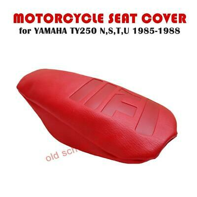 Yamaha Ty250 Ty 250 N S T U 1985-1988 Red Single Seat Cover Embossed Top