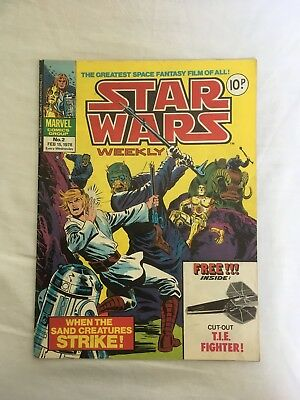 Star Wars Weekly No 2 Marvel Comic 1978 New Hope Magazine UK British