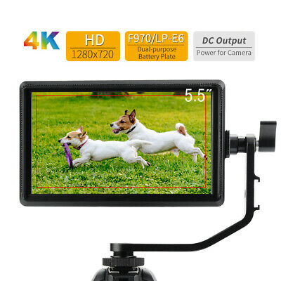 "FEELWORLD S55 Plastic 5.5""IPS Screen LED Monitor Mini Camera DSLR 4K HDMI Input"