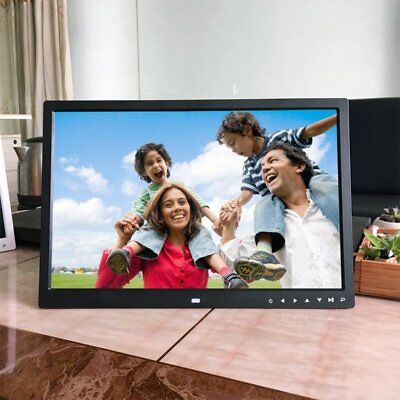 "17"" HD 1080P LED Digital Photo Picture Frame Movie Player Remote Control LOT NM"