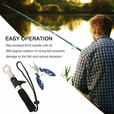 Portable Multifunctional Fishing Pliers Stainless Steel Fish Gripper Tackle C3M3