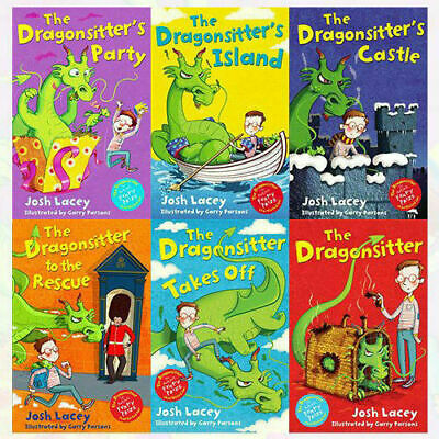 The Dragonsitter Series Collection 6 Books Set By Josh Lacey Dragonsitters Party