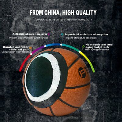 PU Size 7 Outdoor Sports Competition Basketball for Primary And Middle SchoolDQ
