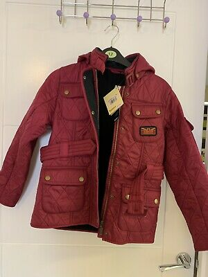 Girls Bnwt Barbour Viper Quilt Jacket Size M 8 Years