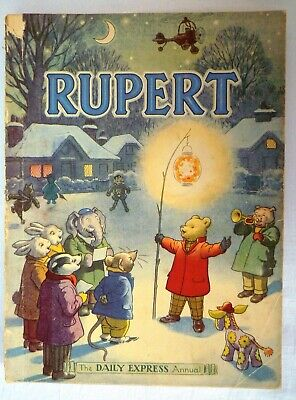 """Rupert Annual 1949 - Unclipped - """"Belongs to"""" has a name. Front cover loose"""