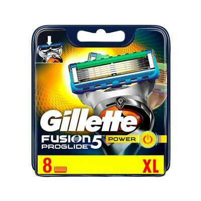 Gillette Fusion Proglide Power Mens Pack of 8 Replacement Razor Blades