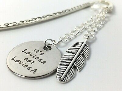 Harry Potter Charm Bookmark ,  Tibetan Silver Its Leviosa Feather Message Gift