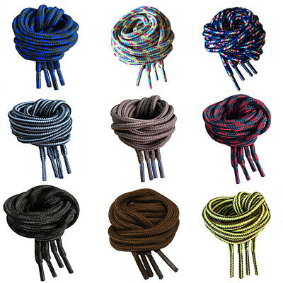 BLACK STRONG SHOELACES BOOT LACES 120cm 140cm FOR WORK BOOTS/SHOES HIKING BOOTS