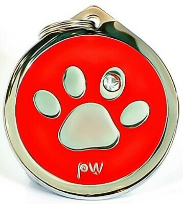 Personalised Pet Dog Cat ID Identity Collar Name Tags Discs FREE UK DELIVERY