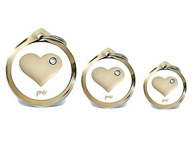 Best Quality Personalised HEART Pet Dog Cat ID Collar Tags Discs FREE  DELIVERY