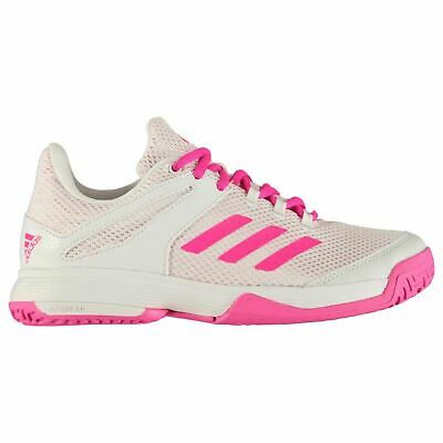 2c39849518 Adidas Adizero Club K Fille Junior Chaussures de Tennis Blanc/Rose Baskets