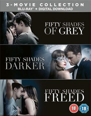 Fifty Shades Of Grey 3 Movie Collection Complete Blu Ray Boxset New Freed Darker
