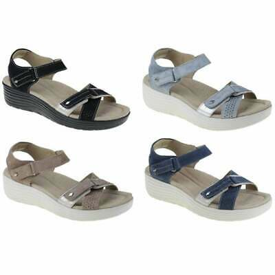 Earth Spirit Swifton Suede Ladies Wedge Sandals in Various Sizes and Colours